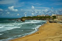 Beautiful sky over Biarritz, France Royalty Free Stock Photography