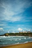 Beautiful sky over Biarritz, France Stock Images