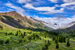Beautiful sky over fabulous mountain valley Royalty Free Stock Image