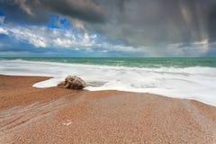 Beautiful sky over ocean coast Royalty Free Stock Photography