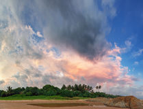 Beautiful sky over the tropical ocean coast Royalty Free Stock Images