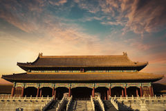 Beautiful sky and palace in Forbidden City Stock Images