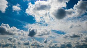 Beautiful sky with pink clouds. Beautiful sky with dramatic clouds Stock Photography
