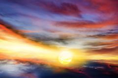 Beautiful sky . Rays of light th rough clouds. Solar eclipse . Light from sky . Religion background . Religion background . Background - Doomsday . Beautiful sky stock images