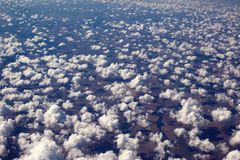 A beautiful sky scape of sun set from an airplain view royalty free stock photo