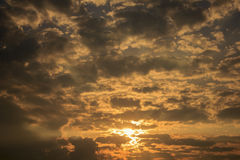 Beautiful sky and streaky cloud when sunrise Stock Image