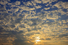 Beautiful sky and streaky cloud when sunrise Royalty Free Stock Photo