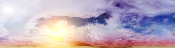 Beautiful sky. Summer art abstract sunrise stock images
