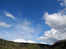 Beautiful sky on a sunny day. Crimea Royalty Free Stock Photography