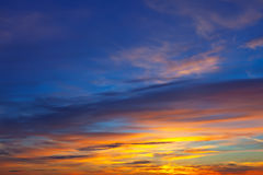 Beautiful sky at sunrise Royalty Free Stock Images
