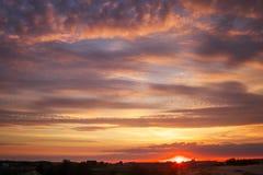Beautiful sky during sunrise. Royalty Free Stock Image