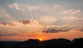 Beautiful sky at sunset Stock Images