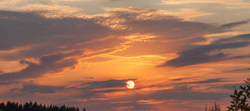 Beautiful sky on the sunset Stock Photography