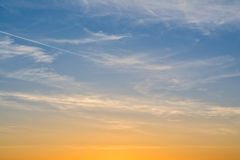 Beautiful sky at sunset Stock Photos
