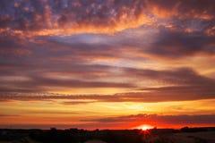Beautiful sky during sunset. Royalty Free Stock Photos