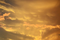 Beautiful sky at sunset in golden and pink colors Royalty Free Stock Photography