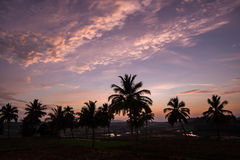 Beautiful sky after sunset india Royalty Free Stock Photo