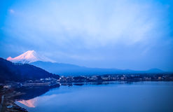 Beautiful sky at sunset , mount fuji japan Stock Images