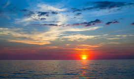 Beautiful sky and sunset at the Sea. Nature. Royalty Free Stock Photo