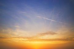Beautiful sky at sunset time Stock Image