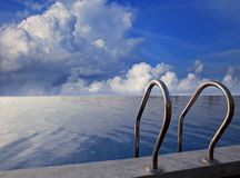 Beautiful sky and swiming pool Royalty Free Stock Photography
