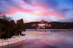Beautiful sky and temple at Summer Palace Royalty Free Stock Photography