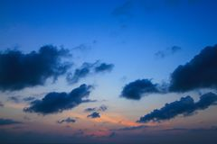 Beautiful Twilight sky. Beautiful sky at twilight time for background Stock Photography