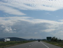 Beautiful sky. Unlimited visibility, great sky, viewed during a roadtrip Stock Photography