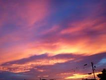 Beautiful sky in Venezuela stock photos