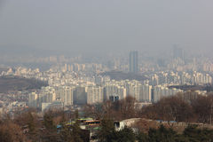 Beautiful Sky View of Seoul, South Korea Stock Image