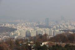 Beautiful Sky View of Seoul, South Korea Stock Image