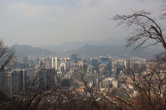 Beautiful Sky View of Seoul, South Korea Stock Photography