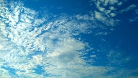 Beautiful sky. With white clouds royalty free stock photography