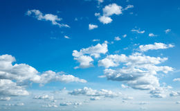Beautiful sky. With white clouds royalty free stock photo