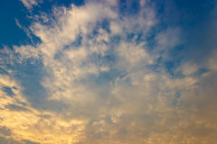 Beautiful sky with white  clound Royalty Free Stock Photography