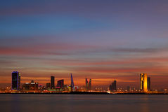 Beautiful skyline of Bahrain, HDR Royalty Free Stock Photos