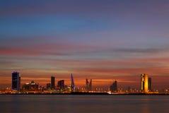 Beautiful skyline of Bahrain, HDR Stock Photography