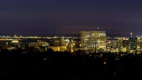 Beautiful skyline of Boise Idaho taken at night Royalty Free Stock Images