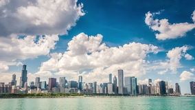 Beautiful skyline of Chicago, Illinois stock video