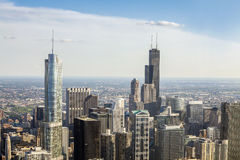 Beautiful skyline of Chicago, Illinois. Royalty Free Stock Photos