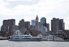 Beautiful skyline of city Boston Mass Stock Photo