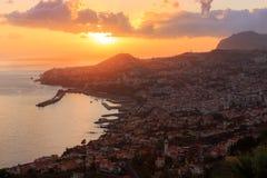 Summer sunset Funchal Madeira royalty free stock photo