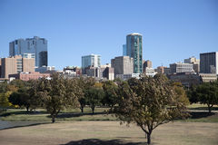 Beautiful skyline of Fort Worth TX. Downtown of Fort Worth TX, USA royalty free stock image