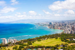 Beautiful Skyline of Oahu,Hawaii Stock Photo