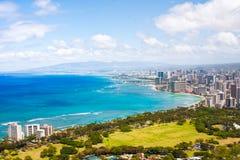 Beautiful Skyline of Oahu,Hawaii stock photo