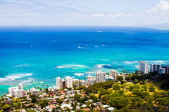 Beautiful Skyline of Oahu,Hawaii Royalty Free Stock Images