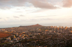 Beautiful Skyline of Oahu, Hawaii Royalty Free Stock Images