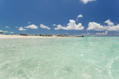 Beautiful skyline over the clear water beach. Royalty Free Stock Image