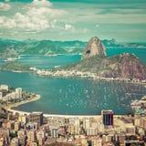 Beautiful skyline view of Rio de Janeiro Royalty Free Stock Photo