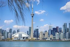 Beautiful Skyline view of Toronto downtown, Ontario, Canada. Beautiful Skyline view of Toronto downtown in sunny day, Ontario, Canada stock photos